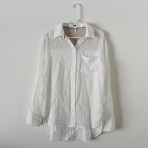 Free people white loose blouse top